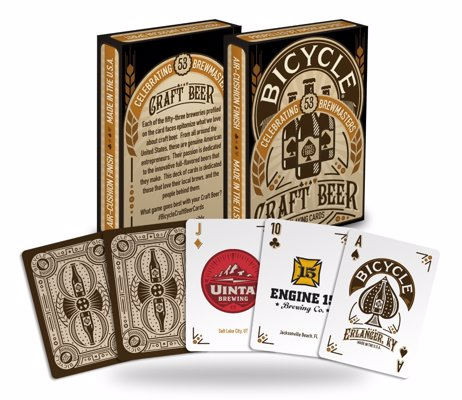 Craft Beer Playing Cards - A quality deck of cards with a different craft brewery on each one