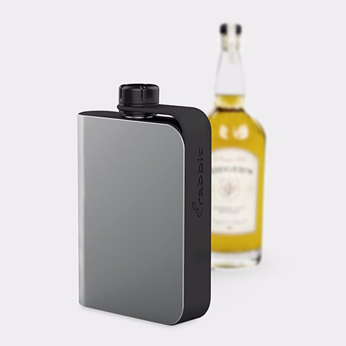 Rabbit Hip Flask - Sleek and modern hip flask, perfect for outdoor activities like camping and fishing