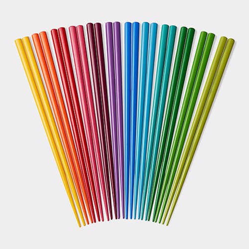 Rainbow Chopsticks Set - These rainbow chopsticks are bound to brighten up any dinner party