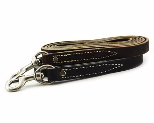 Leerburg Leather Dog Leashes - Incredibly high quality and durable leather leashes for those dogs that tend to destroy anything but the toughest gear