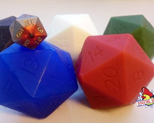 D20 Soap - Hand made D20 shaped soaps with a real hidden die inside