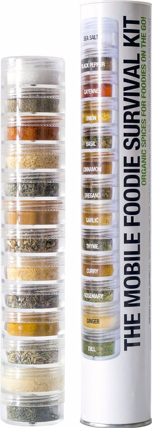 Organic Mobile Foodie Survival Kit - Cook up a storm no matter where you are with this travel set of organic herbs and spices