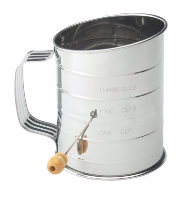 Mrs. Anderson's Hand Crank Sifter -  Turn the hand crank to sift and aerate ingredients quickly for lighter, fluffier baked goods