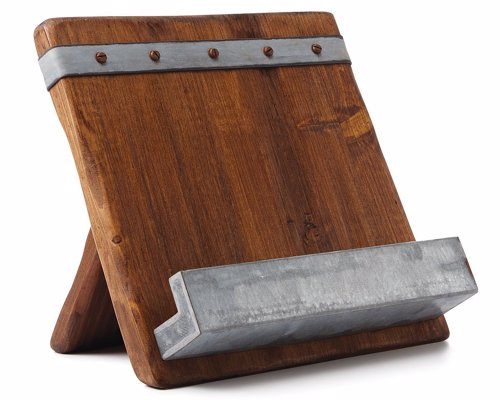 Reclaimed Wooden Cookbook & Ipad Stand
