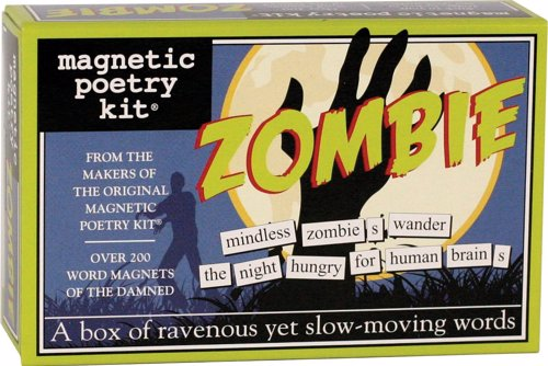 Zombie Magnetic Poetry - Create poems about the impending zombie apocalypse right on your fridge
