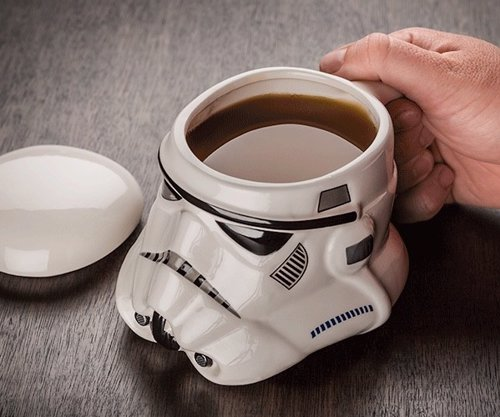 Stormtrooper Helmet Mug - Star Wars Stormtrooper Helmet 3D Ceramic Coffee and Drink Mug with Removable Lid