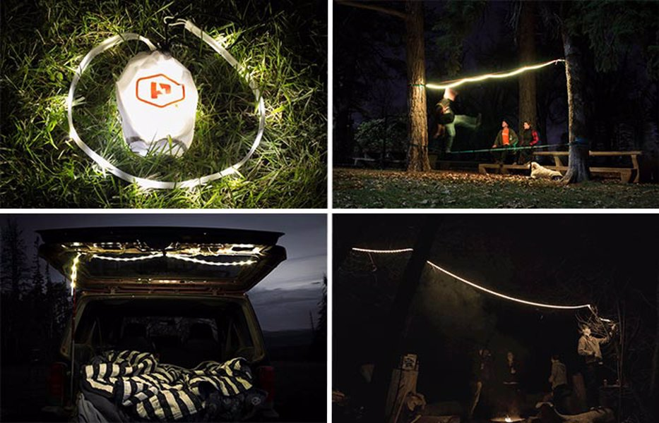 Luminoodle Waterproof Lightweight LED Light Rope - There are so many uses for this neat rope light, from camping, to cycling, and around the home