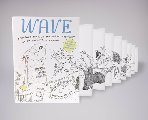WAVE: A Journey Through the Sea of Imagination - An adult coloring book with a difference - one long continuous unfolding illustration