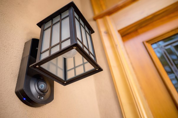 Kuna Smart Home Security Light & Camera - See who's at your door from your smart phone, and talk to them from wherever you are