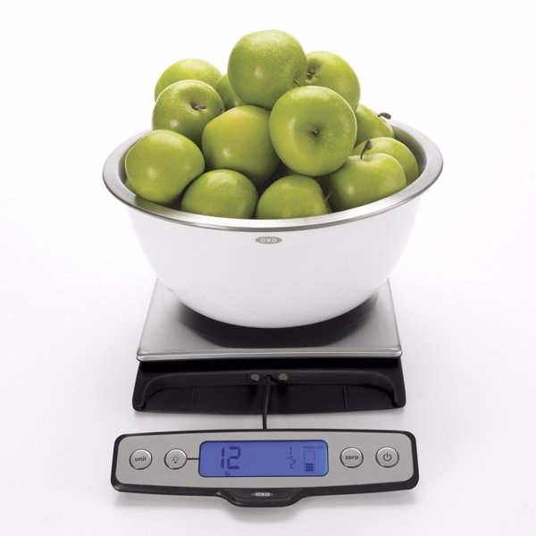 OXO Good Grips 22-Pound Food Scale - High quality & high capacity kitchen scale from the popular OXO Good Grips range