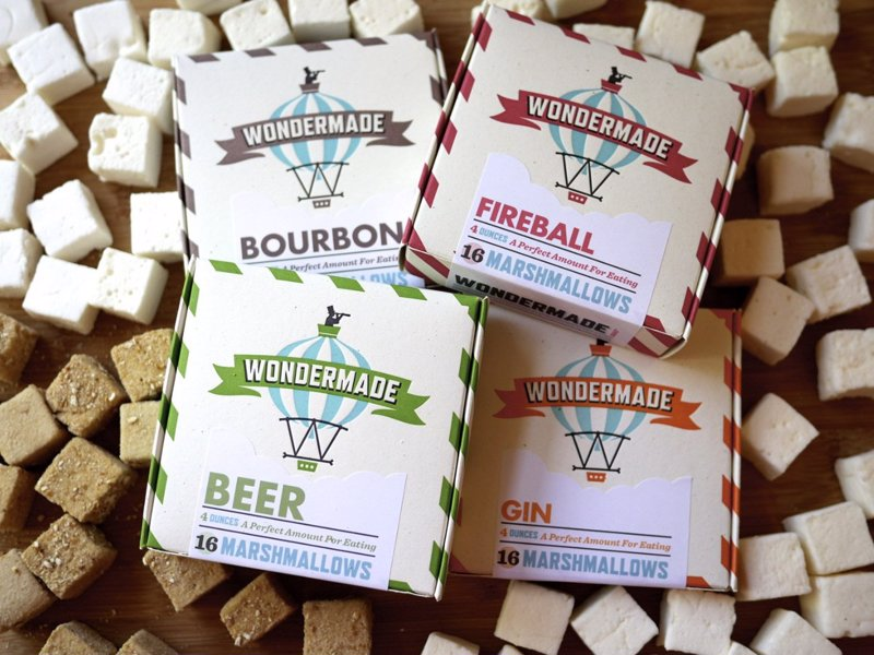 Wondermade Boozy Marshmallows - Booze flavored marshmallows made with real premium alcohol