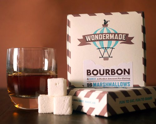 Wondermade Bourbon Marshmallows - 16 delicious bourbon flavored marshmallows