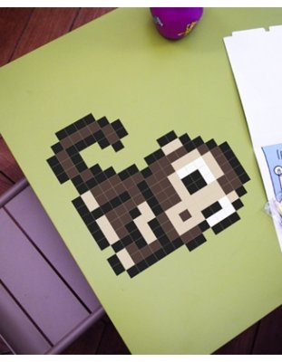 Pixel Sticker Art Kits - Small enough to fit your laptop or big enough to cover a wall, choose from 100s of patters or design your own