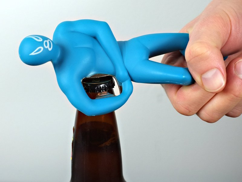Luchador Bottle Opener - Let this Luchador wrestler wrangle your beer bottle open in a wrestling lock hold