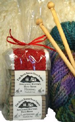 Appalachian Knitter's First Aid Kit - Knitters need to wash their hands frequently to keep their knitting clean, but all that washing can dry out a knitter's hands! This first aid kit is all about moisturizing those creative hands.