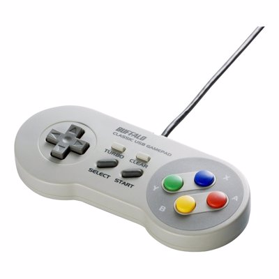 Retro Super Nintendo USB Gamepad - A perfect replication of the original SNES classic, great for retro gaming on PCs, Laptops and Raspberry PI's