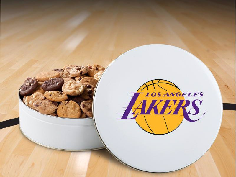 Mrs Fields NBA cookies - Cookies and tins featuring your favorite NBA team logos, yum!
