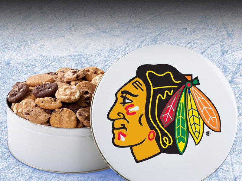 Mrs. Fields NHL Team cookies - Cookies and tins featuring your favorite NHL team logos, yum!