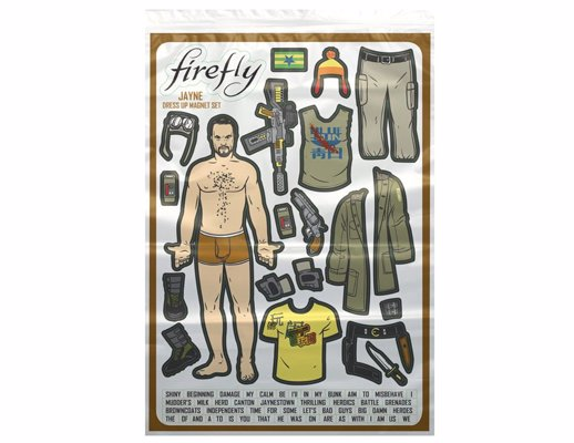 Firefly: Jayne Dress Up Fridge Magnet Set - The Hero of Canton, now available in a handy fridge magnet set