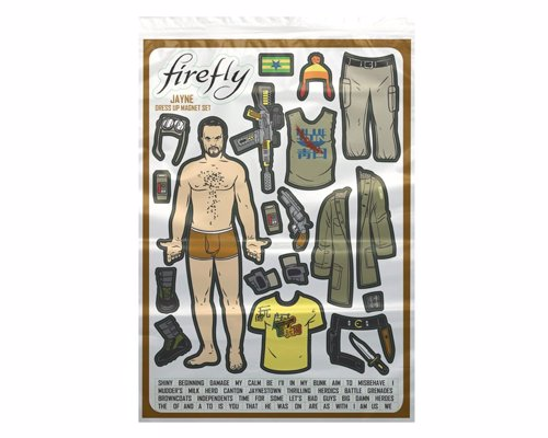 Firefly: Jayne Dress Up Fridge Magnet Set