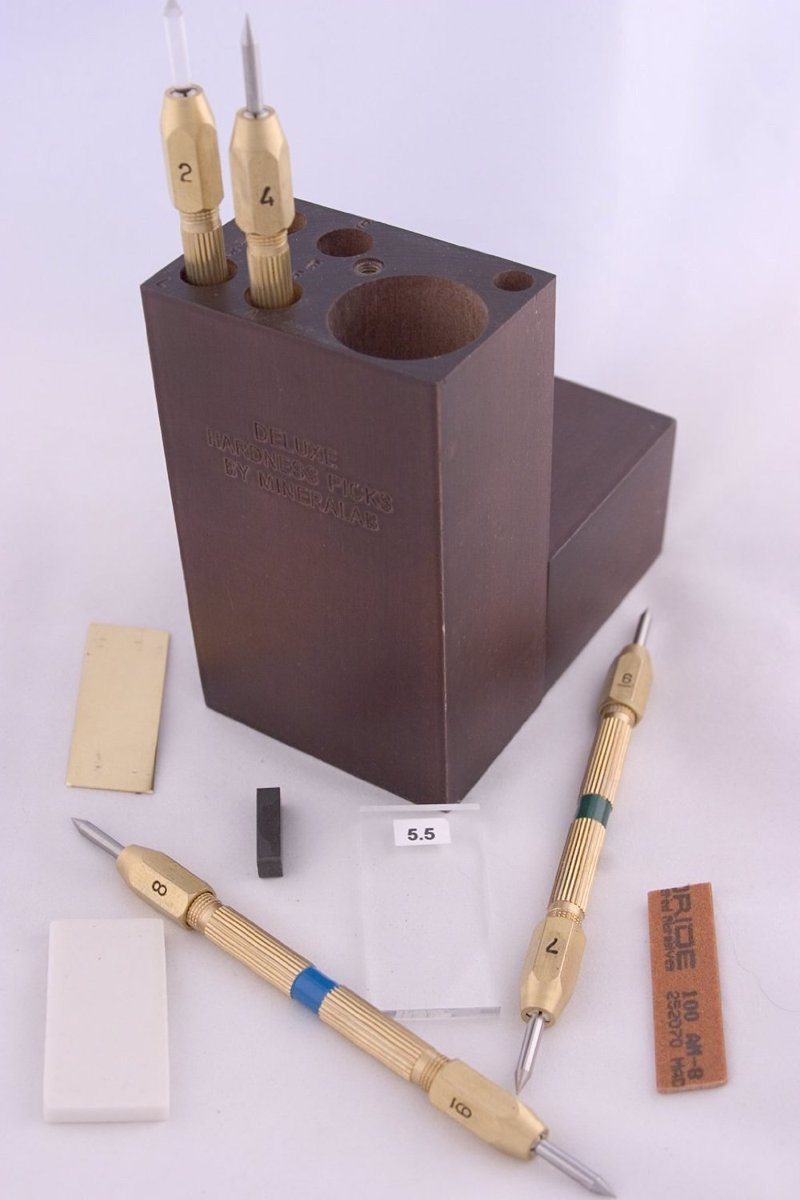 Deluxe Mohs' Hardness Pick Set for Mineral Identification - Top quality tools to help identify your mineral finds