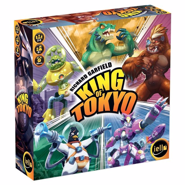 King of Tokyo - Become a giant monster and fight to become King of Tokyo in this Yahtzee-like cards and dice game with broad appeal