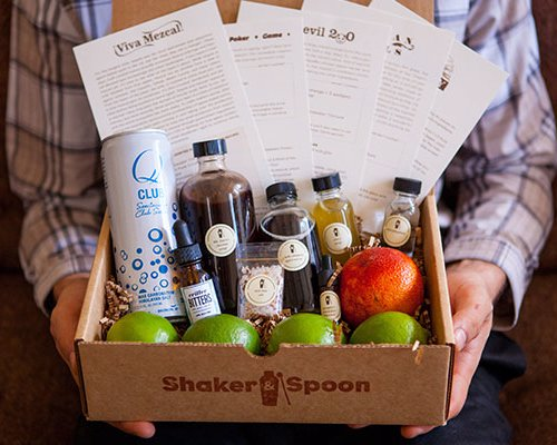 Shaker & Spoon Cocktail Subscription Box - A cocktail subscription box delivering original recipes and everything you need to make them