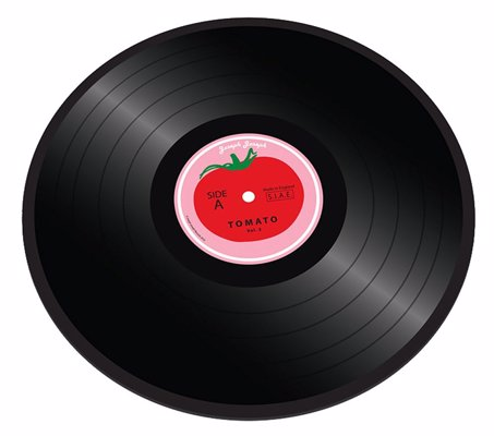 Joseph Joseph Vinyl Record Chopping Board - Retro record design worktop saver, great for music fans
