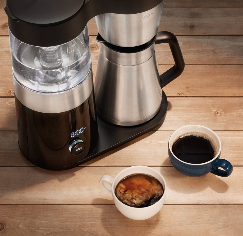 OXO On Barista Brain 9 Cup Coffee Maker - Automatically makes Gold Cup Standard coffee at the press of a button, just fill up with water and coffee