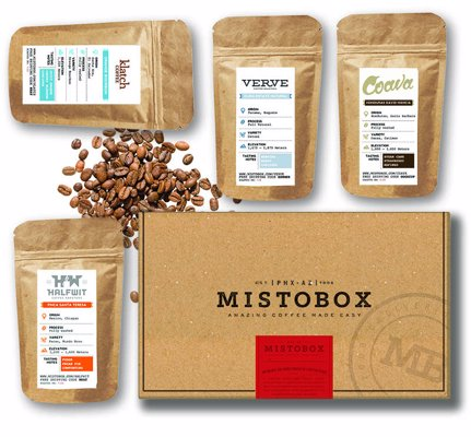 MistoBox Gourmet Coffee Subscription - Explore coffees from a variety of specialty roasters across the US, delivered direct to your door each month