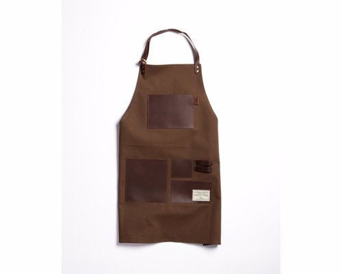 TRVR Waxed Canvas and Leather Apron