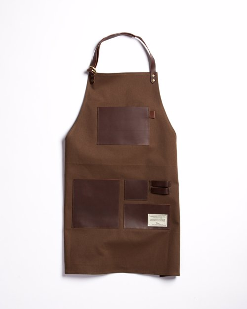 TRVR Waxed Canvas and Leather Apron - Heavy waxed canvas and thick leather, adjustable to fit the frame of any worker