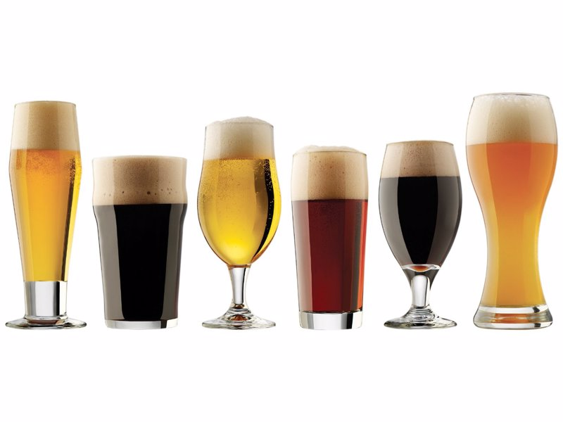 6-Piece Craft Beer Glass Set - Sample your world craft beers in the glasses they were intended to be drunk from