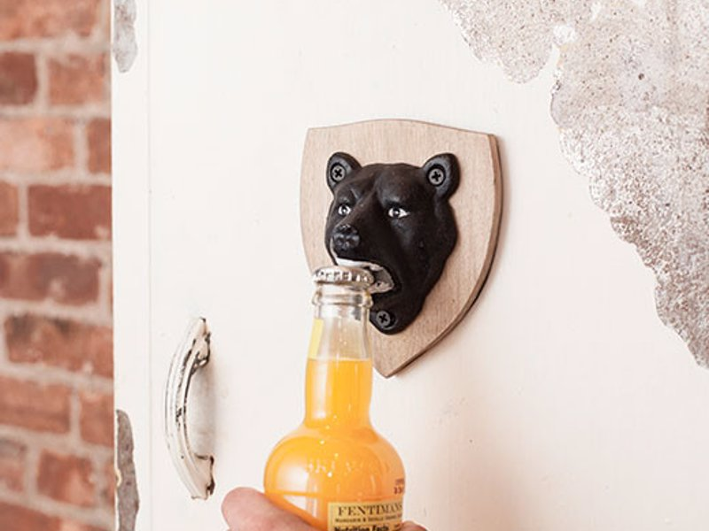 Kikkerland Magnetic Bear Bottle Opener - Sometimes you eat the bear, and sometimes the bear eats... bottle caps