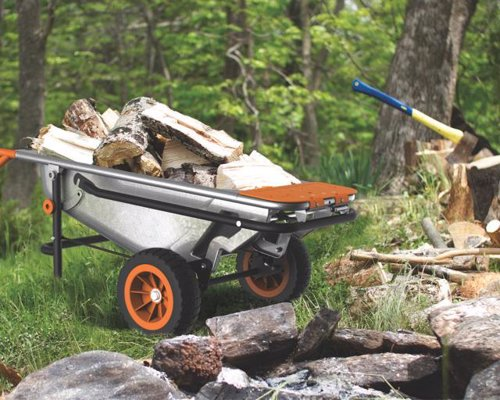 WORX Aerocart 8-in-1 Wheelbarrow, Dolly and Cart