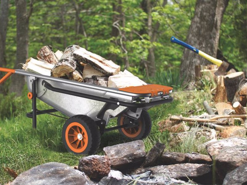 WORX Aerocart 8-in-1 Wheelbarrow, Dolly and Cart - 8-in-1 all-purpose wheelbarrow, yard cart & dolly that lightens every load