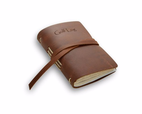 Rustic Leather Golf Log - A quality pocket sized golf log