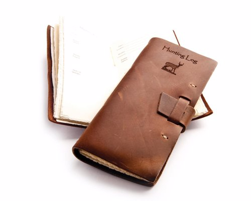 Rustic Leather Hunting Journal