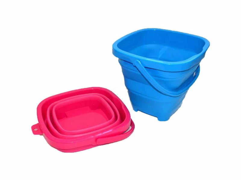 Packable Pails - Collapsible bucket with shovel perfect for the suitcase