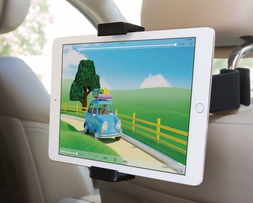 Kenu Airvue Car Tablet Mount - Keep the kids entertained with this well designed, versatile car headphone mount for tablets