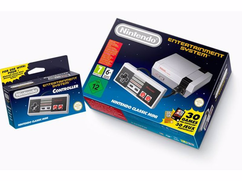 Nintendo NES Classic Mini - Official Nintendo mini-replica of the original NES complete with HDMI compatibility and 30 of the very best games including Mario, Zelda, Donkey Kong and Kirby