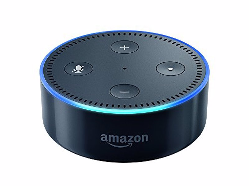 Amazon Echo Dot - Hockey puck sized version of the Amazon Echo that plugs into your existing audio system for hands-free, voice controlled smart home functionality