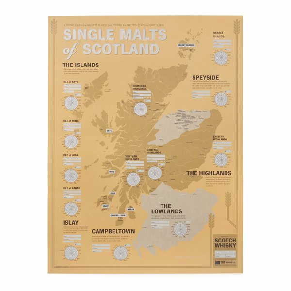 Single Malts of Scotland Tasting Map - Taste your way through every major Scotch-producing region