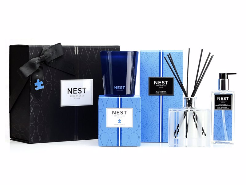 Nest Home Fragrance Gift Set - NEST Fragrances will donate 10% of the retail price of each Blue Garden Luxury Gift Set purchased to Autism Speaks.
