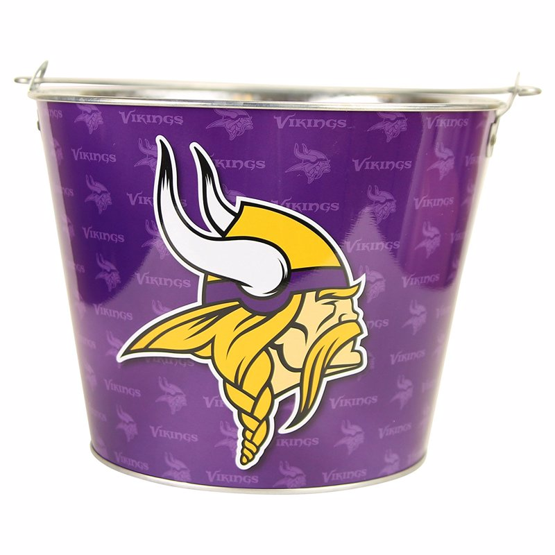 NFL Team Beer Bucket - These beer buckets hold six beers with ice, but also work well as a gift basket for a sports fan