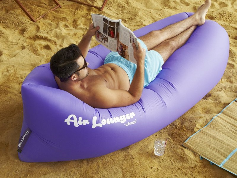 The Ultimate Inflatable Air Lounger - Ultra Lightweight lounger, inflates in seconds with no huffing anf puffing - relax in the park, on the beach, by the pool, anywhere, any time