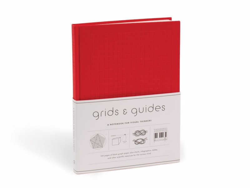 Grids & Guides: A Notebook for Visual Thinkers - Deluxe notebook of varied graph paper designs interspersed with engaging charts and infographics