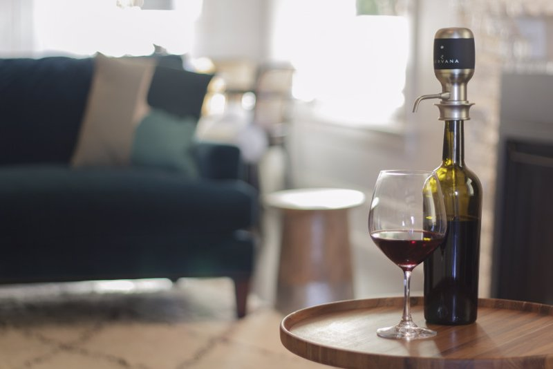 Aervana - Award Winning One-Touch Wine Aerator - Perfectly aerated wine is delivered straight to your glass at the push of a button