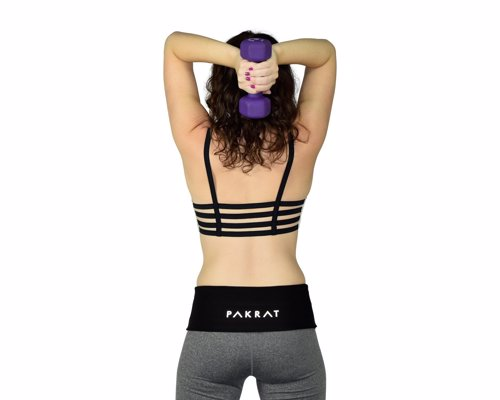 PakRat Running Belt - Comfortable waist pack to store all your essentials while running, also really great as a money and passport belt when travelling