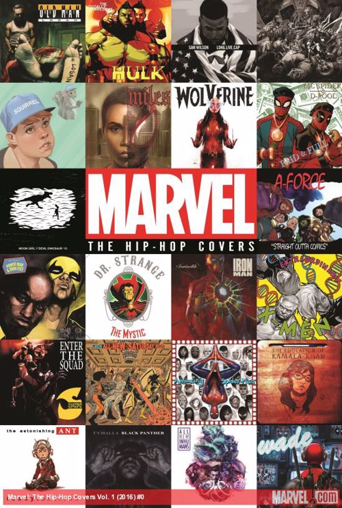 Marvel: The Hip-Hop Covers - A collection of comic book and hip-hop mashups replicate iconic album covers with your favorite superheroes